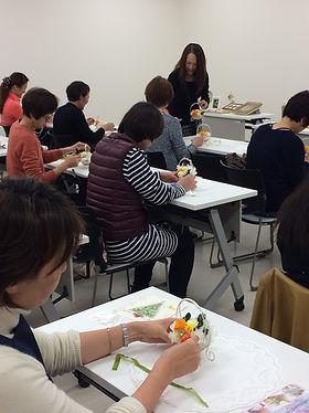 アミュー厚木さんにて プリザーブドフラワーレッスンを開催しました。