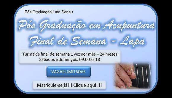 Pós-graduação Acupuntura 2 anos - Final de semana