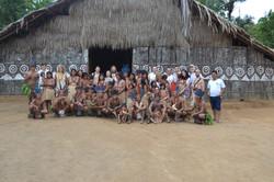 Turma da expedição 2015 na Aldeia