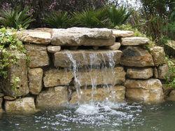 Pond Waterfall Barns Green
