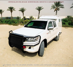 ARMOURED TOYOTA HILUX PERSONNEL CARRIER.