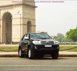 ARMOURED TOYOTA FORTUNER