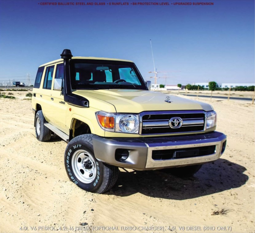 ARMOURED TOYOTA LANDCRUISER 76