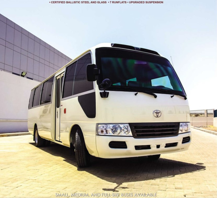 ARMOURED TOYOTA COASTER