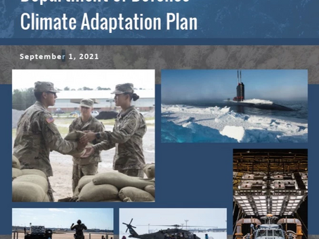 Department of Defense Climate Adaptation Plan