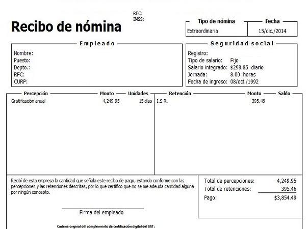 A partir de cu ndo se deben emitir los recibos de n mina for Nominas para rellenar