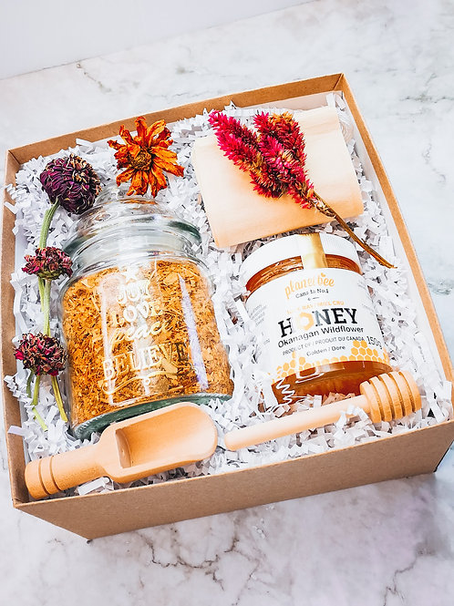 Golden Ginkgo Gift Box + Local Honey