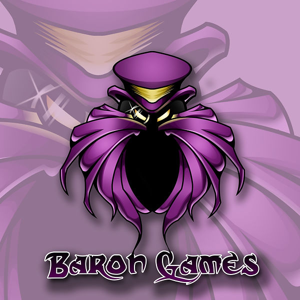 Cool. modern gaming character mascot logo designed by Toon Shack Studio for Baron games