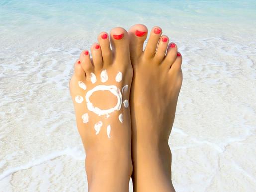 Quemaduras solares en los pies. ¿Cómo puedo proteger los pies del sol?