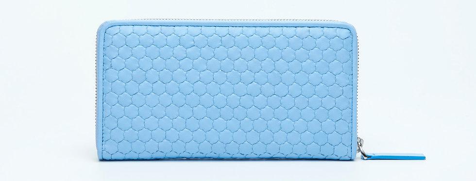 "Atelier_Round Zip Wallet ""Baby blue"""
