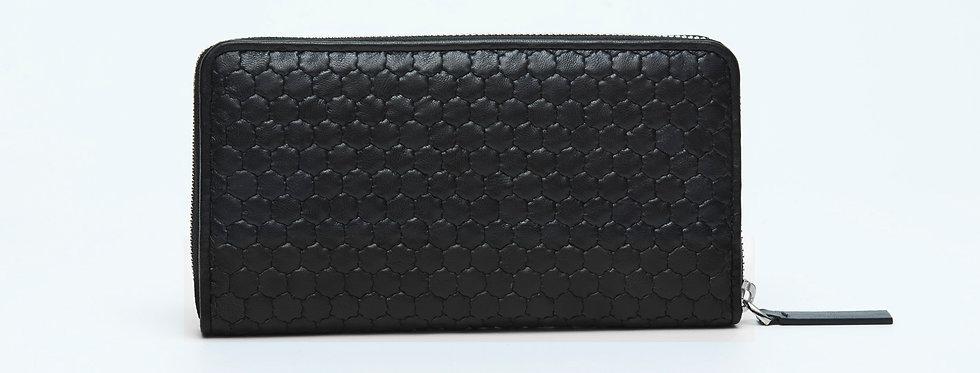 "Atelier_Round Zip Wallet ""Authentic Black"""