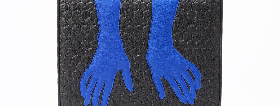 "Fetish Gloves Folio ""Black Blue"""