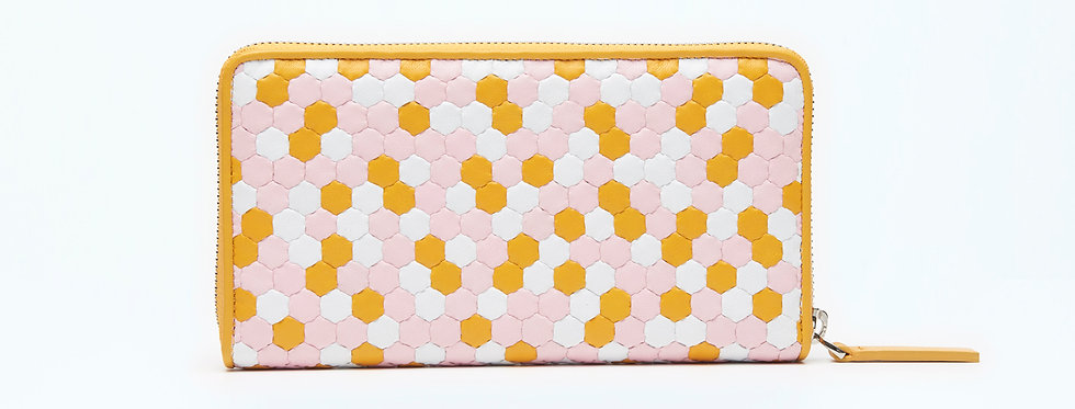 "Atelier_Round Zip Wallet ""Prism Orange"""