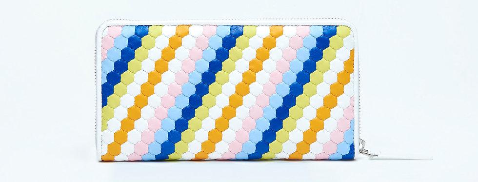 "Atelier_Round Zip Wallet ""Spectrum-Rainbow"""