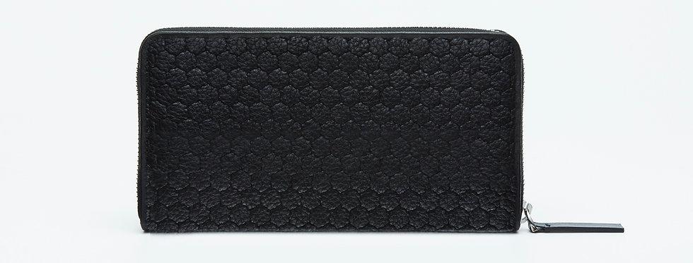 "Atelier_Round Zip Wallet/ Steer leather ""Authentic Black"""
