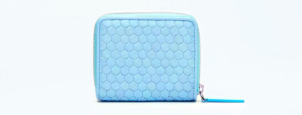 "Atelier_Micro Round Zip Wallet ""Baby blue"""
