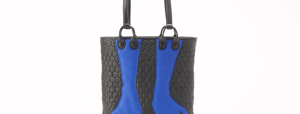 "Fetish Gloves Shopper ""Black Blue"""