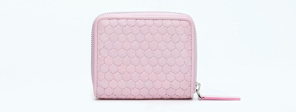 "Atelier_Micro Round Zip Wallet ""Powdery pink"""