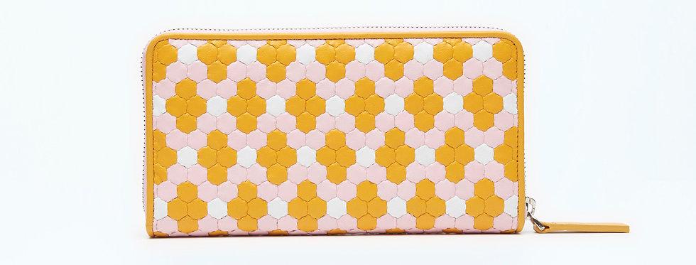 "Atelier_Round Zip Wallet ""Crystal Orange"""