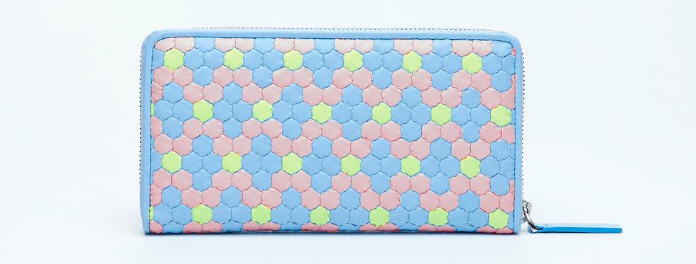 "Atelier_Round Zip Wallet ""Crystal-Baby Blue/ Pink/ Green"""