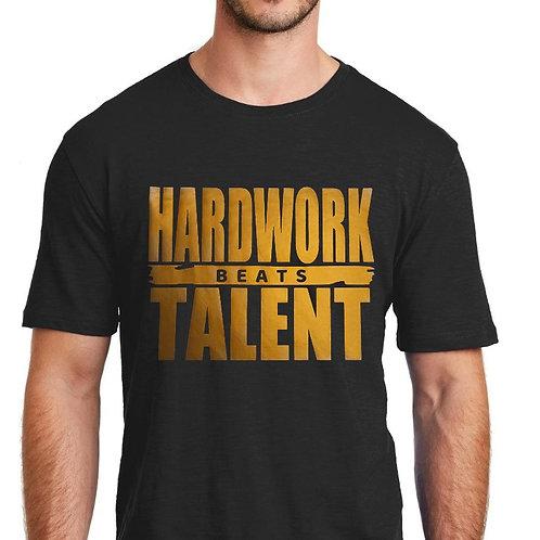 HARDWORK beats TALENT short sleeve t-shirt.