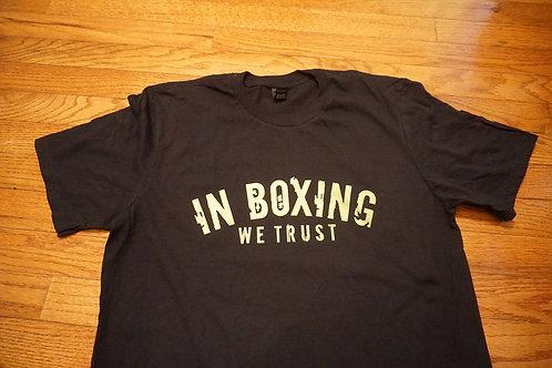 IN BOXING WE TRUST men's t-shirt.