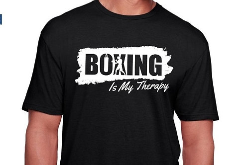 New Design Boxing Is My Therapy tee.