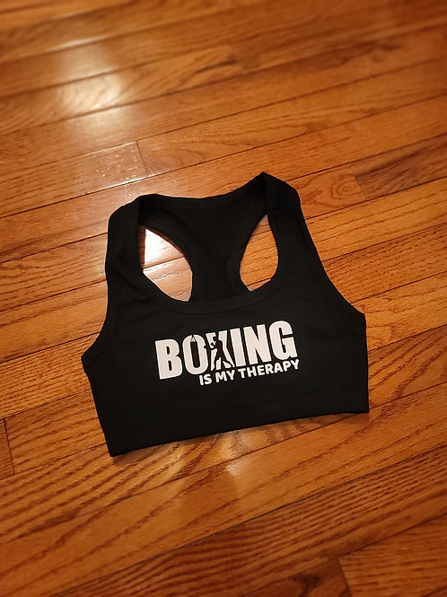 Boxing Is My Therapy sports bra