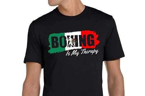 Boxing Is My Therapy Mexican Flag edition tee.