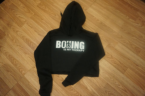 Boxing is my Therapy Crop Hoodie