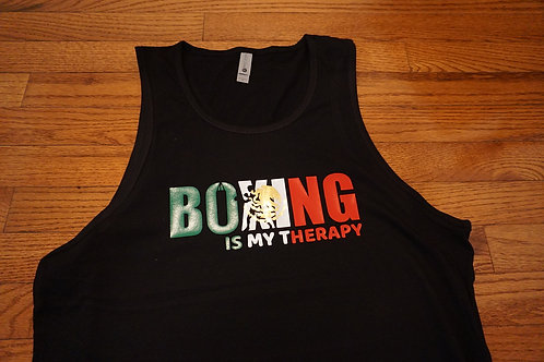 Mexican edition Boxing is my therapy tank top