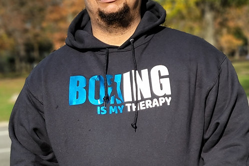 Boxing is my therapy hoodie