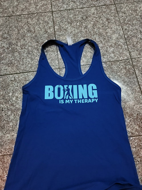 Boxing Is My Therapy racerback tank top