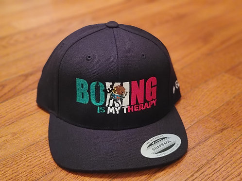 Boxing Is My Therapy Mexican flag edition snapback.