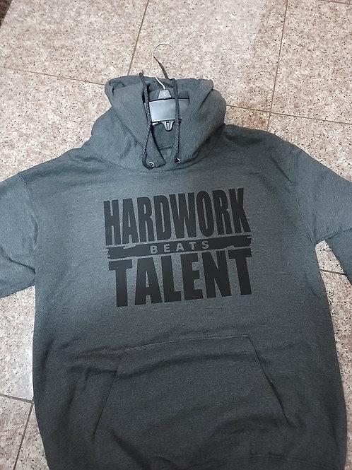 HARDWORK beats TALENT pullover hoodie.