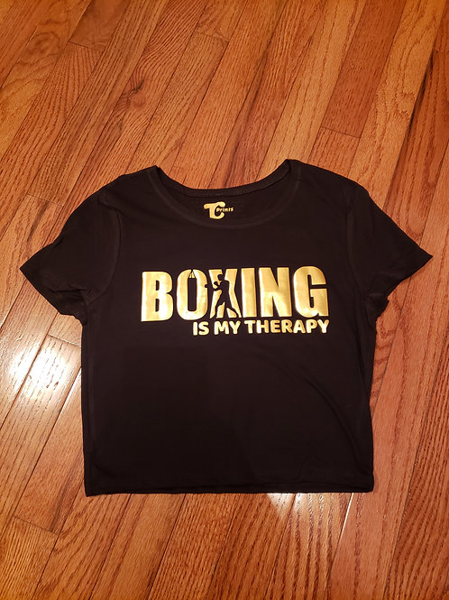 Boxing is my Therapy Crop Top