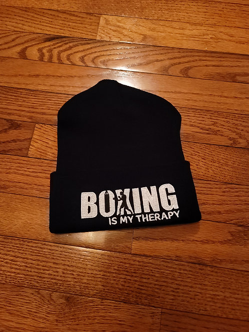 Boxing is my Therapy Beenie Hats