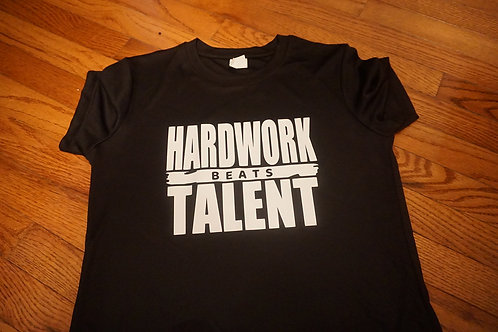 HARDWORK beats TALENT short sleeve tee.