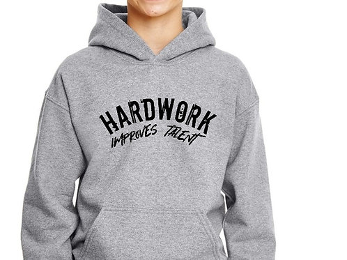 Hardwork Improves talent youth hoodie.
