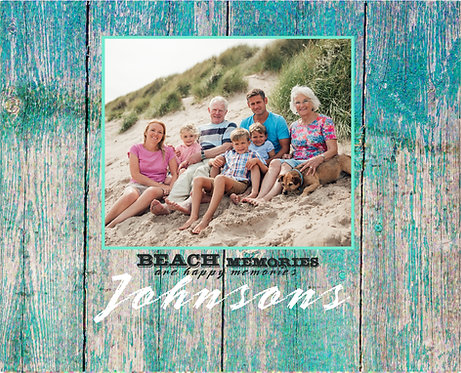 Your Photo Family Beach Canvas, Memories