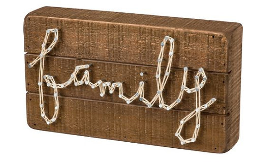 Family String Box Sign
