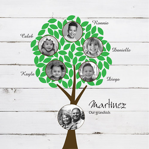 Grandkids Canvas, Short Tree