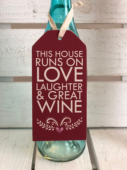 Great Wine Bottle Tag