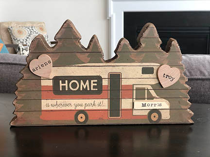 Home is Where You Park It RV Sitter - Personalized