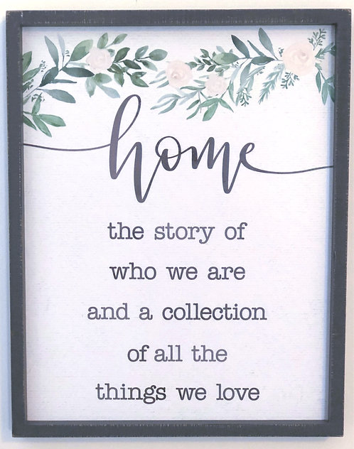 The Story of Home Box Sign