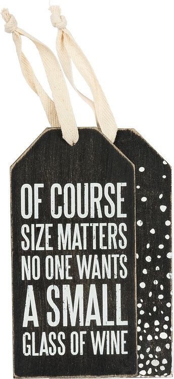 Size Matters Bottle Tag