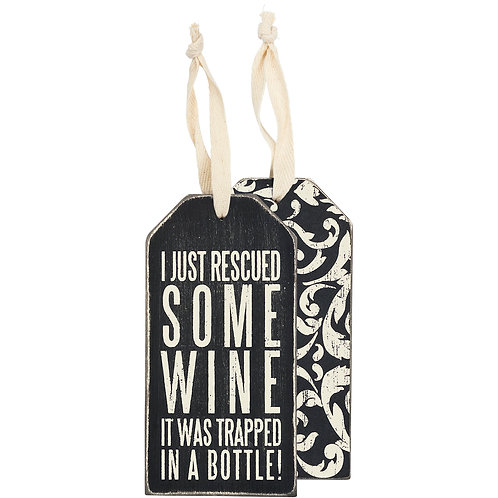 Rescued Wine Bottle Tag