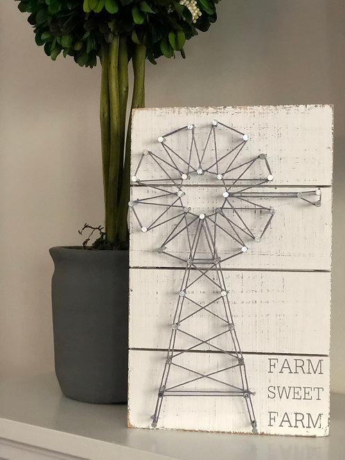 Farm Sweet Farm String Box Sign