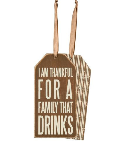Family Drinks Bottle Tag