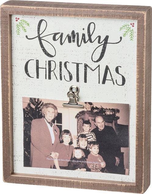 Family Christmas Clip Frame